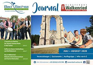 Titel Gästejournal Bad Sachsa und Walkenried Juli-August 2020