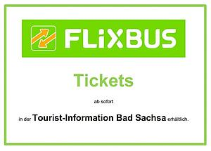 FLIXBUS Tickets in der Tourist-Info